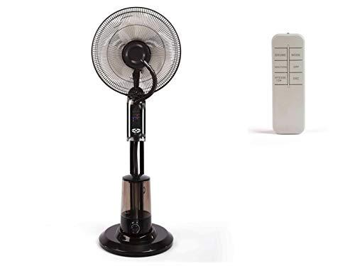Standventilator mit Sprühnebel Luftbefeuchter Ventilator Timer (mit Fernbedienung, Raumbefeuchter, Oszillation, Schwarz)