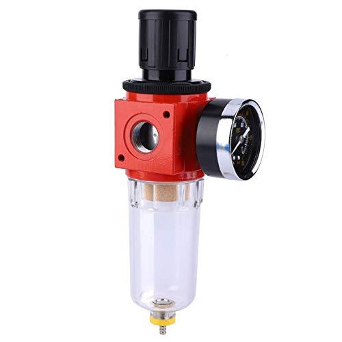 DAUERHAFT Válvula reguladora de presión con manómetro para Sistema de Herramientas neumáticas para compresor(#2)