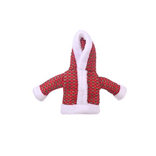 HEG Botellas de Navidad Decoración suéter Conjunto de Vino Rojo Ropa Vieja...