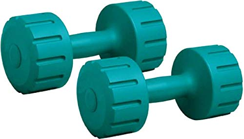 AURION PVC Dumbbell 4 KG (2 kg X 2) Weight Fitness Exercise Barbell(Olive Green)