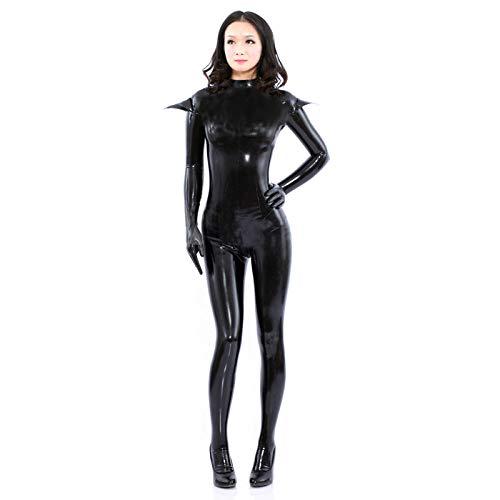 QPXZ Sin Costura Leggins Mujer Disfraz De Mujer Sexy De Gato De Talla Grande para Mujer Catsuit De Cuero De PU Negro Cubierta Completa Mono Elástico Disfraz De Halloween Cosplay-XXXL_As_Shown