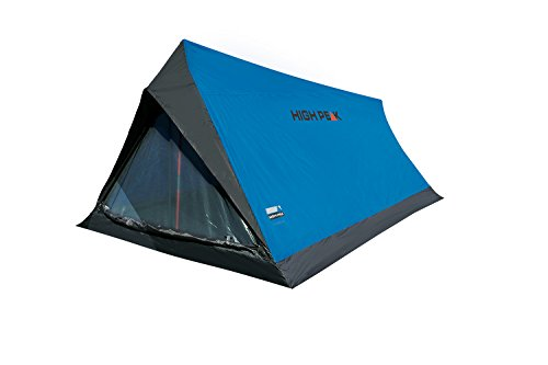 High Peak Hauszelt Minilite, Campingzelt für 2 Personen, Leichtgewicht 1,0 kg, kleines Packmaß, 1500 mm wasserdicht, Ventilationssystem, Moskitoschutz