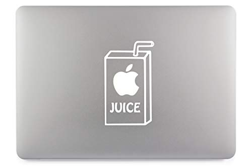 Apple Juice Apfelsaft Aufkleber Skin Decal Sticker Vinyl geeignet für Apple MacBook Air Pro Notebooks Laptops Apple, Auto, Glatte Oberflächen (13