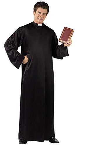 Costume Tunica da Prete Sacerdote Carnevale Halloween Cosplay Uomo Colore Nero Idea Regalo Natale Compleanno Festa