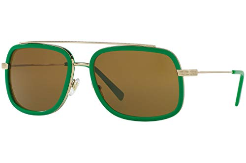 Versace VE2173 zonnebril pale goud groen met bruine glazen 139073 VE 2173