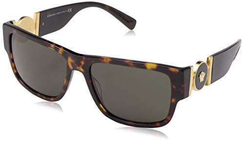 Versace Herren VE4369 Sonnenbrille, Braun (Havana / Grün), 58