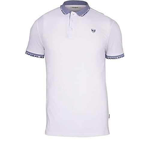 Kaporal DRAZI Polo Shirt Homme, Blanc, S