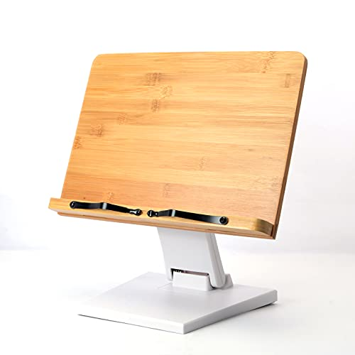 ブックスタンド 書見台 本立て 読書台 高さと角度自由調整可能 木製 竹製 卓上 勉強 おしゃれ コンパクト持ち運び 折り畳み