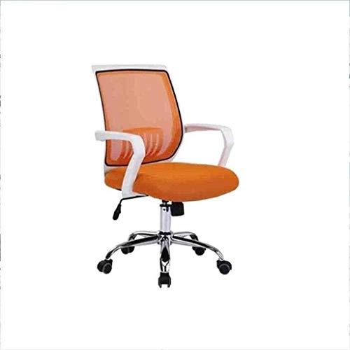 BeingHD Qualitätsbürostuhl, Bürostuhl mit Armlehne Racing Home Office Chair Swivel Chair Lift Net Home Office Computer Stuhl Drehstuhl Lässig (Color : Orange)