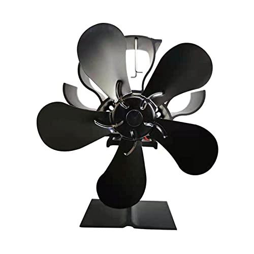 L1YAFYA 5 Blades Thermal Power Chimenea Ventilador de la Estufa de Madera alimentada por el Ventilador de la Estufa de Madera/lencerista de la distribución del Calor del Quemador Accesorio