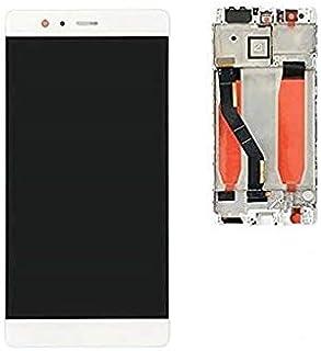 قطعة غيار شاشة Lcd بيضاء مع إطار متوافق مع هواوي P9 بلس من ريفيكسيت.