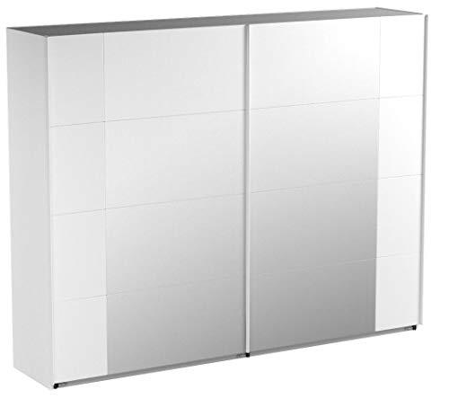 Wimex 734795/Armario de Puertas correderas 270/x 210/x 59/cm con 8/Espejo Campos Frontal y Cuerpo alpinwei/ß//aufleistungen Cromo Brillante