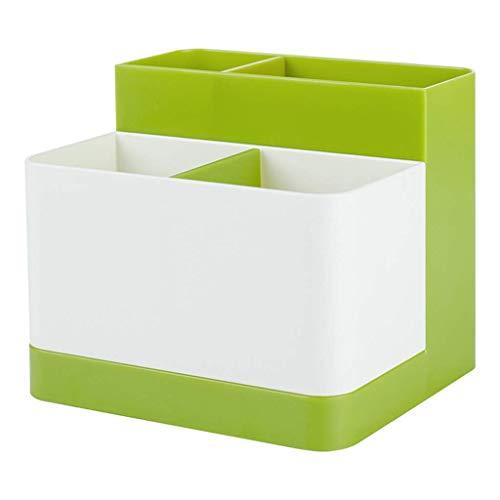 ZTMN Boîte de Rangement en Plastique Simple en Plastique, Bureau, Rouge à lèvres, Bijoux, Produits de Soins de la Peau, boîte de Rangement de Stockage 12,5 * 12,5 * 10,5 cm (Couleur: Vert)