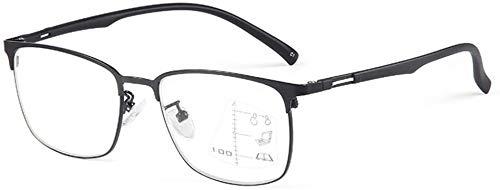 Gafas de lectura Progresiva multifocal gafas de lectura, TR90 luz azul bloqueo Gafas, remoto y local de doble uso al aire libre Eyewear óptico, bloqueo anti-fatiga del ordenador Vidrios anti azul clar