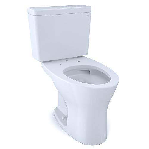 TOTO CST746CEMFRG#01 Drake Two-Piece Elongated Dual Flush 1.28 and 0.8 GPF Universal Height DYNAMAX TORNADO FLUSH Toilet with CEFIONTECT and Right-Hand Trip Lever, Cotton White