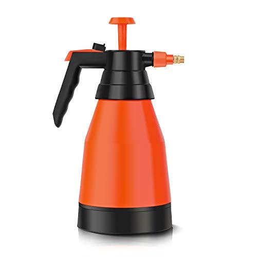 Beewarm Pump Sprayer Garden Sprayer 67.63-Ounce Plant Mister Bottle 2 Liter Water Spray Bottle for Cleaning Solutions in Lawn