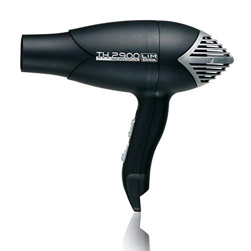 Secador de cabello LIM HAIR TH 2900. Made in Spain. Alta potencia 2000 W. Profesional para salón peluquería. Diseño futurista. Doble boquilla