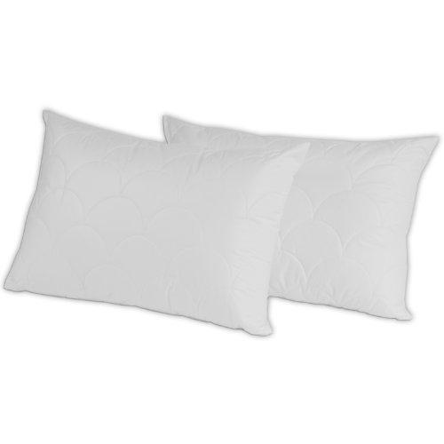 MERINO BETTEN Hochwertiges Kopfkissen 50x70 Set | Schlafkissen | Innenkissen mit verstepptem Bezug | Serie Wolke