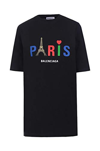 Luxury Fashion | Balenciaga Dames 594599TGV431000 Zwart Katoen T-shirts | Lente-zomer 20