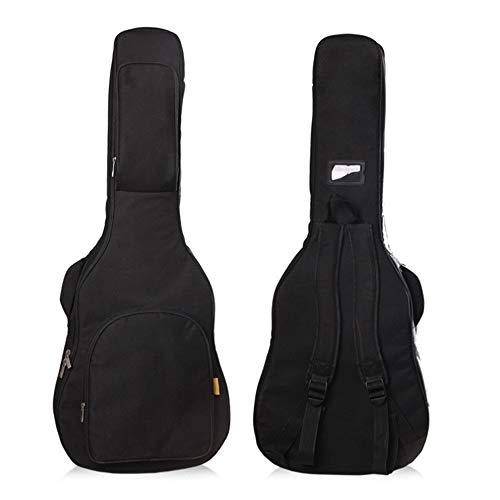 DRSPD 38/39/40/41のためにギターバッグ、インチのアコースティックそしてクラシックギターギグバッグ、20ミリメートルエクストラ太いスポンジパッド入り防水ギターケース、 (色 : ブラック, サイズ : 39inches)