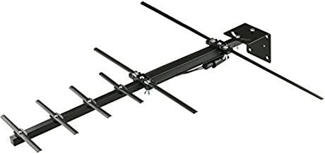 Channel Master STEALTHtenna Digital HDTV Directional Outdoor TV Antenna - VHF, UHF Aerial with Adjustable Angle Bracket for Mast Pole or Vertical Surface Mounting Outside or in Attic - CM-3010HD