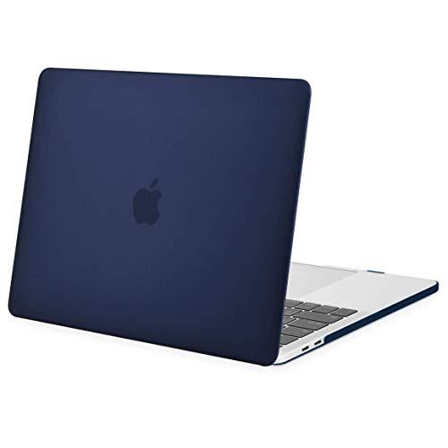 MOSISO Hülle Kompatibel mit MacBook Pro 13 2019 2018 2017 2016 Freisetzung A2159 A1989 A1706 A1708 - Plastik Hülle Kompatibel mit MacBook Pro 13 Zoll mit/ohne Touch Bar, Navy Blau