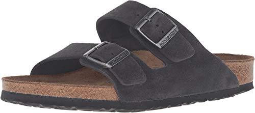 Birkenstock Unisex Arizona Velvet Gray Sandals - 41 M EU/10-10.5 B(M) US Women/8-8.5 B(M) US Men