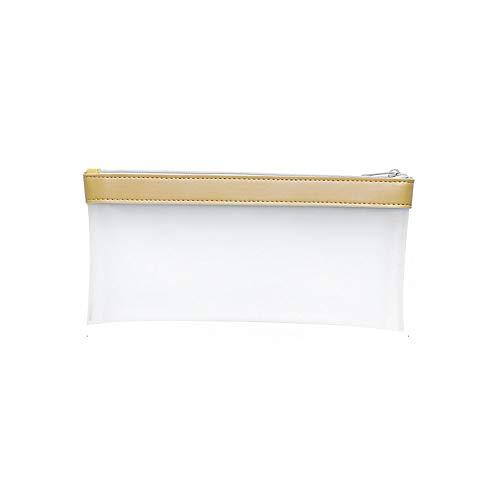 LHTCZZB Transparente simple caja de lápiz de Mujer de gran capacidad de examen portátil caja de lápiz de los efectos de escritorio Box literaria fresca pequeña y linda personalidad creativa de la caja