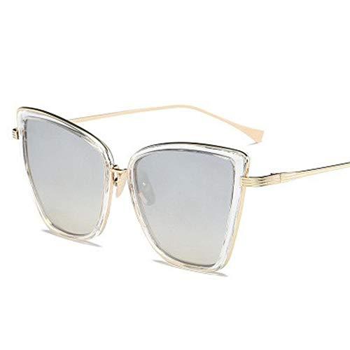 ZYIZEE Gafas de Sol Gafas De Sol Mujer Gafas De Metal Vintage para Mujer Espejo Retro Lunette De Soleil Femme for Driver