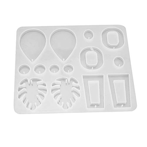 Raburt Silicone Leaf Earring Pendant Jewelry Epoxy Mold Resin Casting Mould Tool 11.6x13.7cm