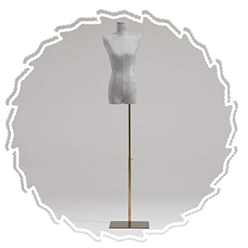 RZEMIN ZEMIN Maniquí de Costura, Soporte de Exhibición de Vestido de Tienda de Ropa Modelo Ficticio Femenino, Base Cepillada Dorada Ajustable en Altura, 2 Estilos (Color : C)