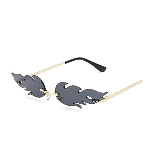 Gafas de sol de llama, Gafas de sol de llama de tendencia de moda, Gafas de sol reflectantes de personalidad de tendencia Gafas de sol de graduación Gafas de sol de playa Gafas de conducción (gris)
