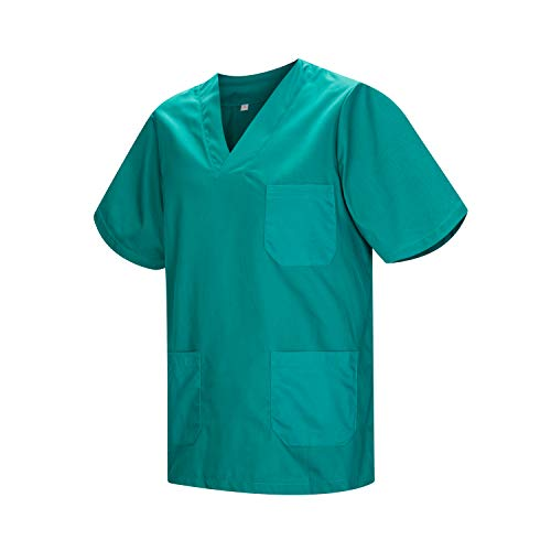 MISEMIYA - Medizinische Uniformen Unisex Top Krankenschwester Krankenhaus Berufskleidung - Medium, Grün