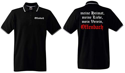 world-of-shirt Herren Polo Shirt Offenbach Meine Heimat Mein Verein