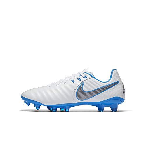 Nike Schuhe für Jungen Fußballschuh JR Legend 7 Elite FG White MTLC Cool Grey Blue Hero AH7258107 (4.5 M US)