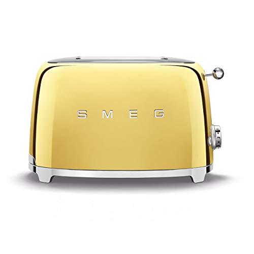 Smeg TSF01GOEU TSF01CR/PG/RD/SS/PK/WH/BL/PB/RG/GO Toaster, 18/8 Edelstahl