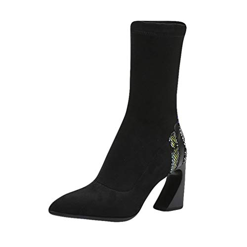 Posional Zapatos Mujeres Botas de Tacones Altos Elegantes Suave Calzado Botines Patrón...