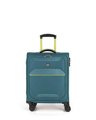 Gabol - Giro | Maleta de Cabina de Tela de 39 x 54 x 20 cm con Capacidad para 33 L de Color Turquesa
