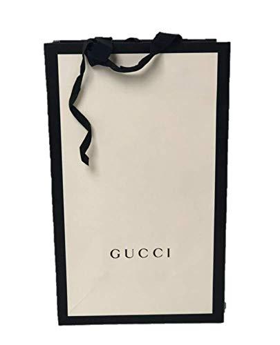 GUCCI(グッチ) ショップ袋 ショッパー 紙袋 プレゼント 手提げ袋 ラッピング ギフト (縦38横23幅14(cm), 白)