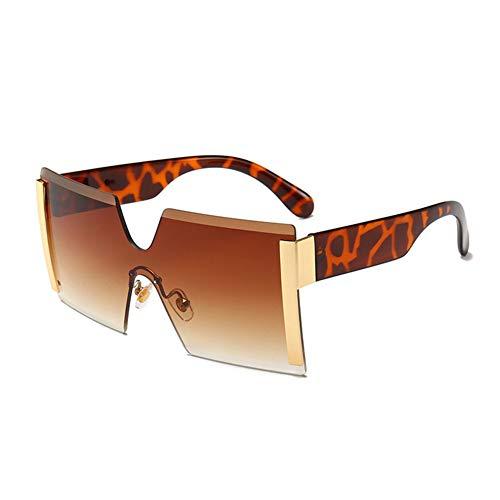 Z&HA Großer Ring Sonnenbrille Frameless Schild One Piece Gradient Lens Kristall Geschliffene Gläser UV400 Männer und Frauen Neutral Außen New,04