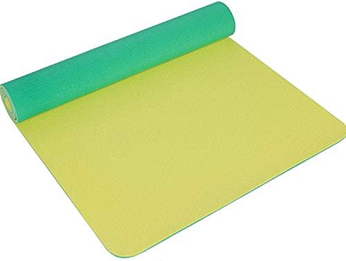 LSLS Esterilla de yoga de PVC mate de 8 mm para principiantes, ensanchamiento y alargamiento antideslizante para yoga (color: E)