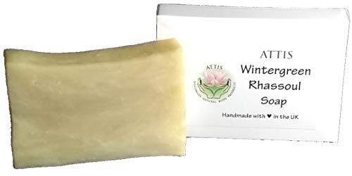 ATTIS Wintergreen Savon naturel fabrication artisanale avec gel Aloe Vera, Beurre de Karité et Argile Rhassoul - Végétalien