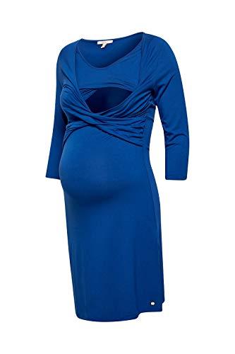 ESPRIT Maternity Damen Dress Nursing 3/4 sl Kleid, Blau (Ink 417), 40 (Herstellergröße: L)