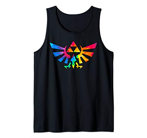 Legend of Zelda Triforce Symbol Tie Dye Tank Top