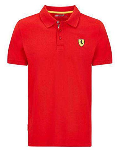 Ferrari Herren SF Poloshirt T-Shirt, Rot, L