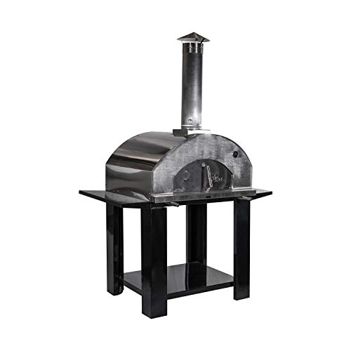 Nuke Pizzero Outdoor Napolitano Wood-Fired Pizza Oven, Stainless Steel