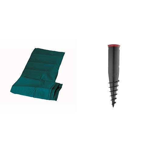 Leifheit 85632 Schutzhülle Wäscheschirm &  Bodendübel mit Eindrehstange zum Einschrauben, Bodenhülse für sicheren Halt, Bodenanker auch für handelsübliche Wäsche- und Sonnenschirme