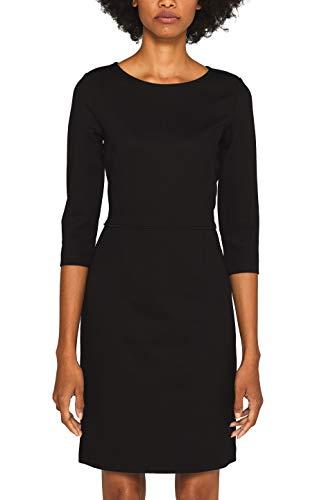 ESPRIT Damen 099EE1E002s Kleid, Schwarz (Black 001), Small (Herstellergröße: S)