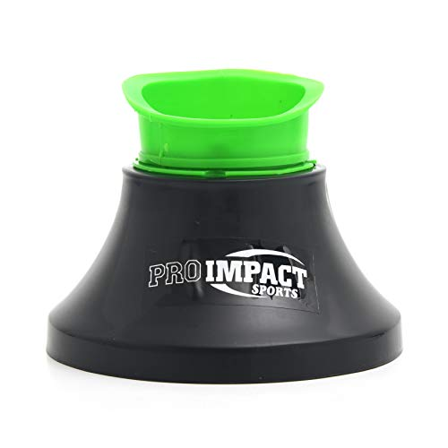 Pro Impact Rugby Kicking Tee - Heavy Duty Fixed Tee with 4 Prong Hold - Kick Consistency & Accuracy Improvement for Youth & Adult (Black Green Adjustable)