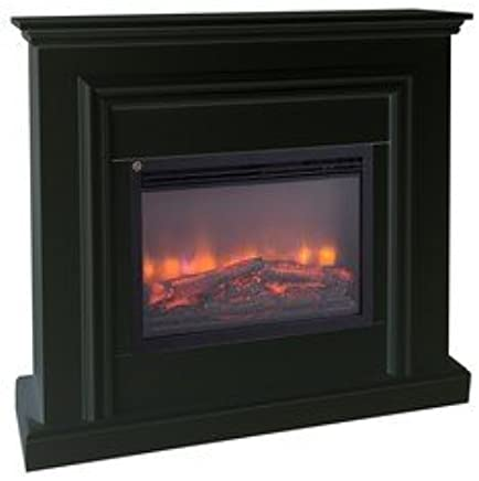 Casa-Padrino electric fireplace black Baroque Art Nouveau 110 ModG1 Electric fireplace living room fireplace